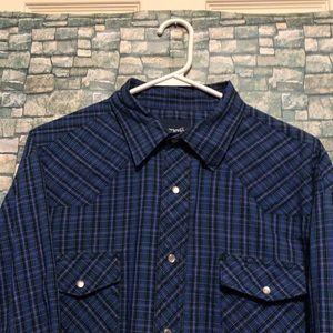 Men's Wrangler western style dress shirt